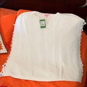 New Lilly Pulitzer Keating Resort White Sweater S